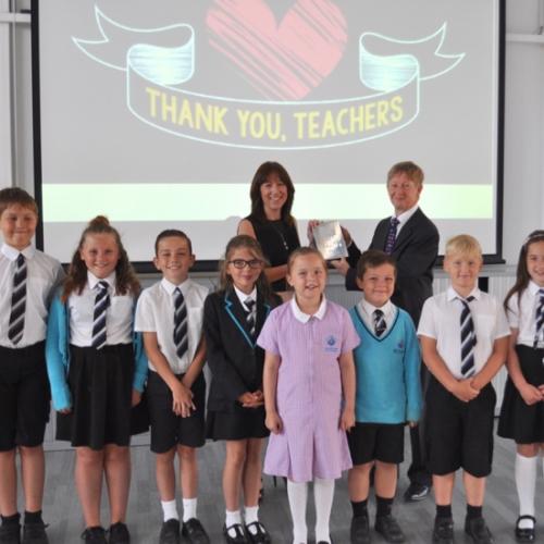 Lorraine Clarke receiving Pearson Silver Award