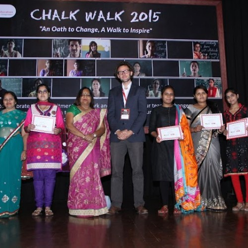 Teachers who joined Chalk Walk 2015